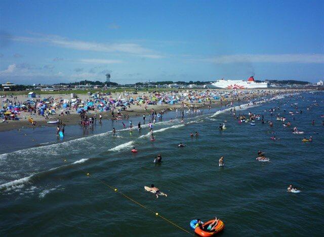 大洗サンビーチ海水浴場,海開き,混雑状況,駐車場,アクセス,夏休み,シャワー,トイレ,クラゲ