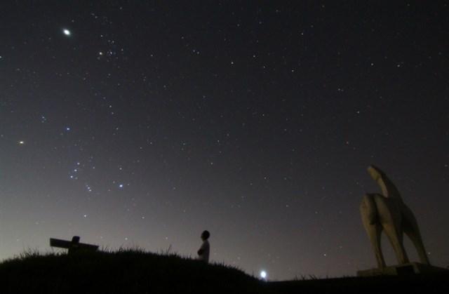 オリオン座流星群,見える方角,見える時間,ピーク,2019,観測スポット,穴場,横浜,陣馬山